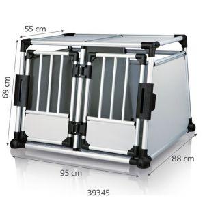 Trixie Double box de transport en aluminium