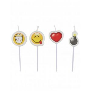 4 mini bougies Smiley Emoticons