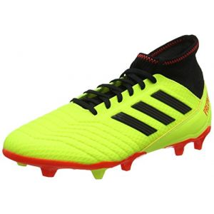 Adidas Predator 18.3 FG, Chaussures de Football Homme, Multicolore (Syello/Cblack/Solred Db2003), 44 EU