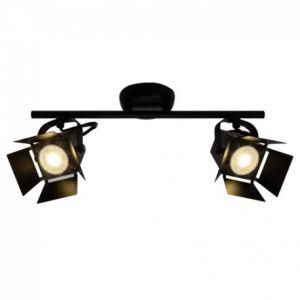 Brilliant AG Plafonnier MOVIE LED - 2x5W GU10 - NOIR DEPOLI G08913_76