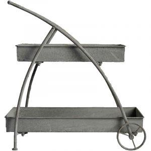 La Grande Prairie Jardinière Chariot en Fer 30x63x63 cm