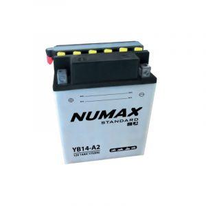 Numax Batterie Moto Standard avec Pack Acide YB14-A2 12V 14Ah 175A