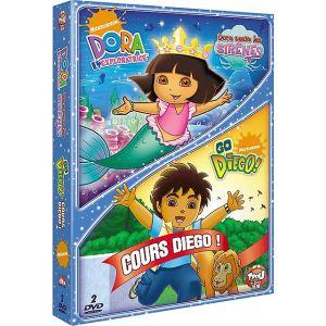 Coffret Dora l'exploratrice : Dora sauve les sirènes + Go Diego ! : Cours Diego !