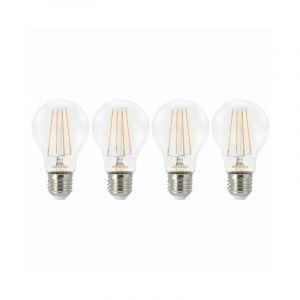 Sylvania Lot de 4 ampoules à filament led toledo retro 806lm 7w standard e27 - blanc chaud