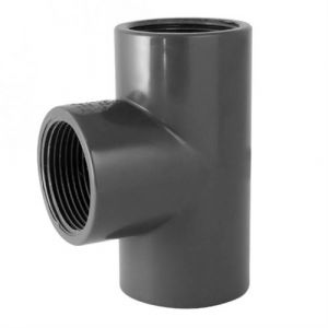 Codital Té 90° PVC pression à visser FFF 1/2 de - Catégorie Raccord PVC pression