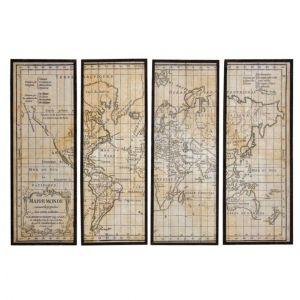 Aubry Gaspard Mappemonde 4 cadres en bois