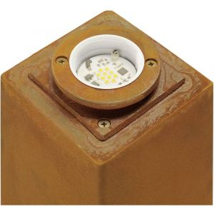 Image de SLV Borne e?clairage exte?rieur IP55 fonte rouillée Rusty Carré 40 LED