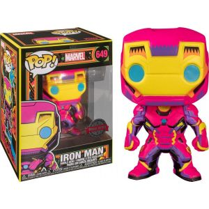 Funko Figurine Pop - Iron Man - Marvel: Black Light (649) - Pop Movies - Exclusive - Fu48846