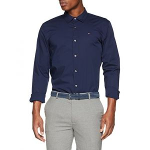 Tommy Jeans Chemises Tommy-hilfiger Original Stretch Slim Fit - Black Iris - L