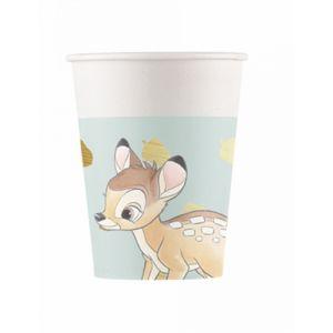 8 Gobelets en carton premium Bambi 260 ml