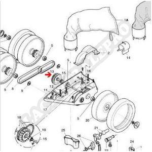 Procopi 1001068 - Séparateur de courroies Polaris 360-380