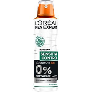 L'Oréal Men Expert Sensitive Control Déodorant Atomiseur Homme Peau Sensible 200 ml