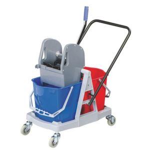 Chariot de lavage compact 2 seaux (18 L)