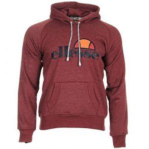ELLESSE Eh Hoodie Uni Capuche Bordeaux, Sweat-Shirt - S