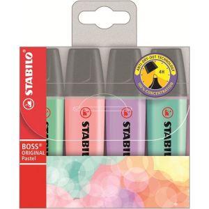 Stabilo Boss Original Pastel - Pochette de 4 surligneurs assortis