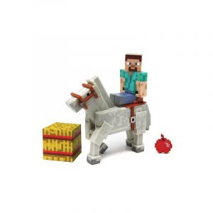 Steve et un cheval - Pack 2 figurines articulées Minecraft Overworld