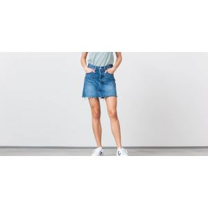 Levi's Deconstructed Skirt, Jupe Femme, Bleu (Middle Man 0023), Taille Unique (Taille Fabricant: 26)