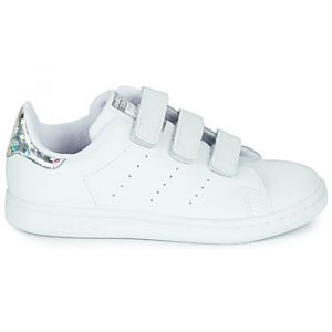 Adidas Baskets basses enfant STAN SMITH CF C blanc - Taille 28,30,31,32,34,35,33 1/2