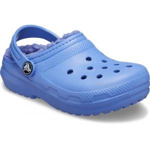 Crocs Classic Lined Clog Kids, Sabot Mixte Enfant, Lapis, 34 EU