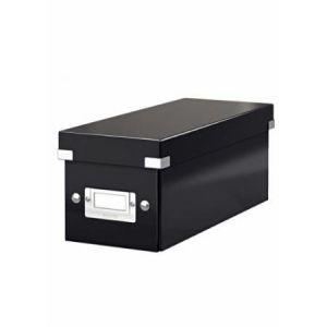 Leitz 6041-00-95 - Boîte de rangement Click & Store, format CD, en PP, coloris noir