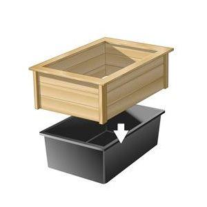 Ubbink 1311005 - Cadre bois pour bassin Quadra C3