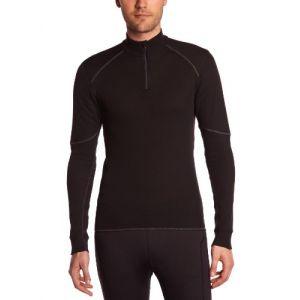 Odlo T-Shirt ML 1/2 zip X-WARM T-shirt manches longues homme Homme black FR: M (Taille Fabricant: M)