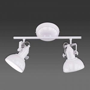 Reality Leuchten Spot de plafond Reality Blanc, 2 lumières - Design - Intérieur - GINA - Délai de livraison moyen: 3 à 6 jours ouvrés. Port gratuit France métropolitaine et Belgique dès 100 €.
