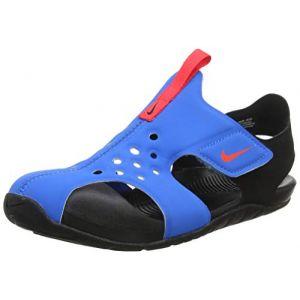 Nike Sunray Protect 2 (PS), Chaussures de Plage & Piscine garçon, Bleu (Photo Blue/BRT Crimson/Black 400), 32 EU