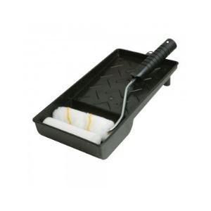 Silverline 947598 - Ensemble mini rouleau et bac peinture 100 mm