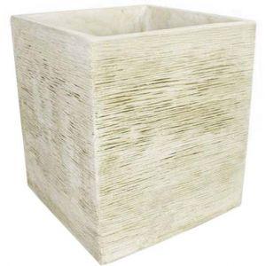 Deco granit Jardinière en pierre reconstituée carrée effet brossé