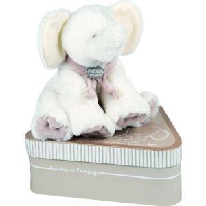 Doudou et Compagnie Peluche Éléphant avec doudou (grand modèle)