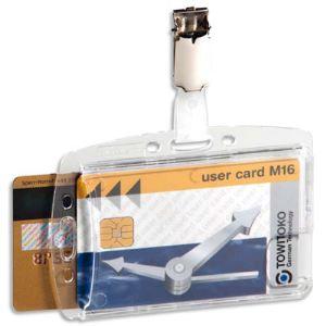 Durable 8013-19-288840 - 25 badges de sécurité modèle 2 cartes