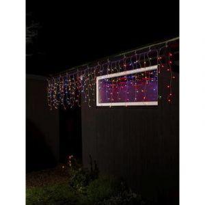 Konstsmide 3673-503 - Guirlande lumineuse stalactites, effet chute de neige pour l'extérieur 24 V Ampoule LED multicolore