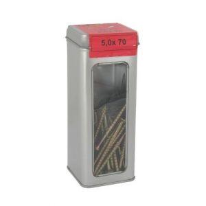 Vis agglo tête fraisée étoilée pro acier zingué jaune boîte métallique bg 6 x 140 20