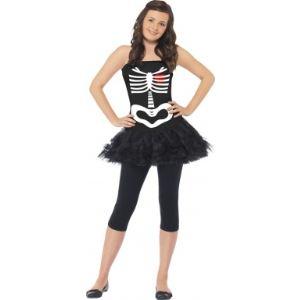 Déguisement squelette robe tutu Halloween (13-15 ans)