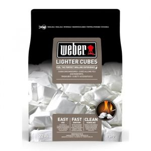 Weber Cube allume-feux blanc - Boîte de 22 cubes