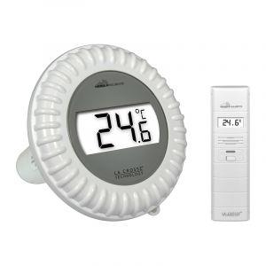 La Crosse Technology Kit Piscine Connecté MA10700 Mobile Alerts contenant une sonde de température pour piscine et un capteur thermo/hygro