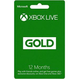 Microsoft Abonnement Xbox Live 12 Mois Gold