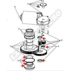 Procopi 32270160 - Roulements et bagues pour moto-réducteur Aquamat 3001