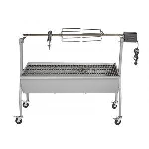 Silver Style Barbecue à charbon avec tournebroche XXL