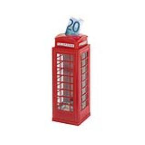 Goki 14091 - Tirelire au design de cabine téléphonique