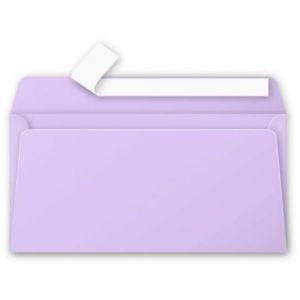 Clairefontaine 5185C - Enveloppe Pollen 110x220, 120 g/m², coloris glycine, en paquet cellophané de 20