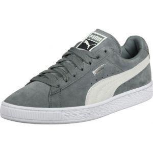 Puma Suede Classic+, Sneakers Basses Mixte Adulte, Vert (Agave Green White 07), 44 EU