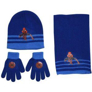 SPIDERMAN Ensemble Bonnet + Écharpe + Gants Bleu Enfant Garçon - SPIDERMAN Ensemble Bonnet + Écharpe + Gants Bleu Enfant Garçon. 100% acrylique.