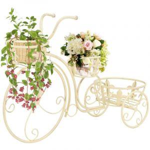 VidaXL Support de plantes sous forme de vélo Style vintage Métal