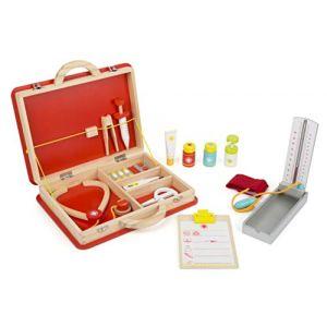"""Legler 11160 Malette de docteur """"Premiers secours"""" en bois, avec accessoires tels que stéthoscope, thermomètre clinique et seringue, à partir de 3 ans"""