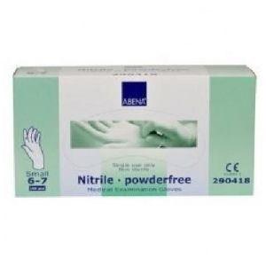 Abena 150 gants en nitrile non poudrés - Small 6/7