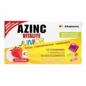 Arkopharma Azinc Vitalité Junior Fraise - 30 comprimés