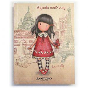 Santoro Agenda scolaire 2018-2019 Gorjuss Time to fly