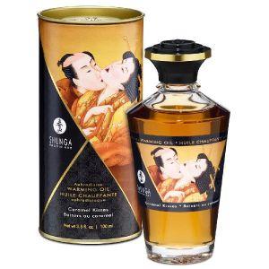 Shunga Erotic Art Huile Chauffante Aphrodisiaque Parfumée Shunga Caramel